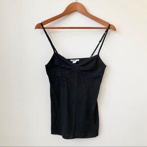 BAR III   SOFT BUSTIER TANK TOP WITH EXTERIOR PIPE